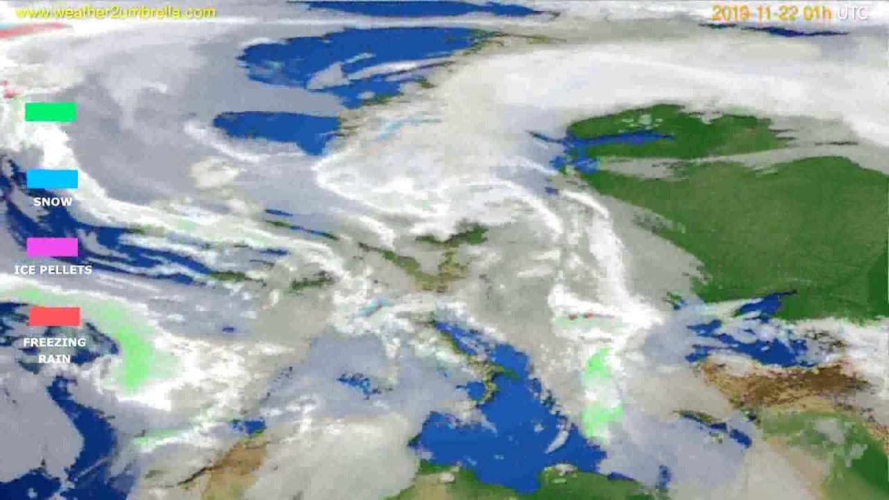 Precipitation forecast Europe // modelrun: 12h UTC 2019-11-20