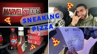 How To SNEAK PIZZA Into A CINEMA *Challenge* | Avengers Endgame |
