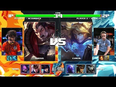 ReignOver Darius vs Rekkles Ezreal | Round of 32 1v1 Tournament All-Stars 2016 | NA vs EU