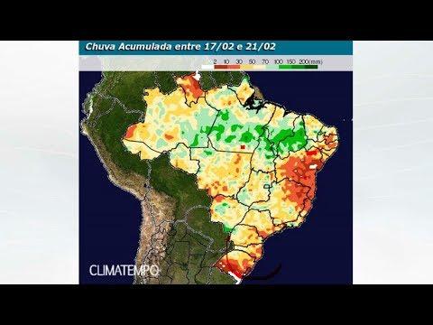 Previsão de chuva de 17/02 até 03/03/18