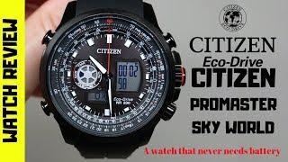 CITIZEN PRO-MASTER SKY WORLD MEN'S PILOT WATCH REVIEW (4K)
