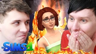 DIL BURNS THE PANCAKES - Dan and Phil Play: Sims 4 #36