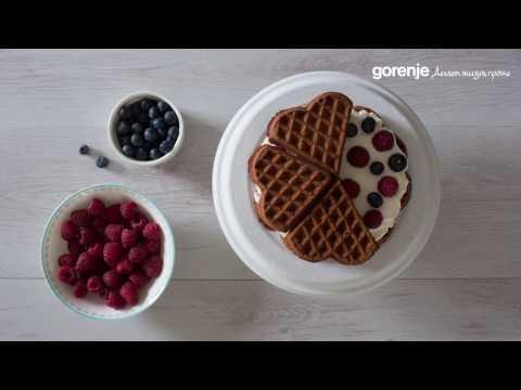 Торт из бельгийских вафель с помощью WCM702PW