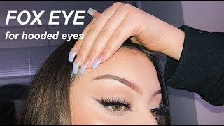Quick + Easy FOX EYE Makeup For Hooded Eyes
