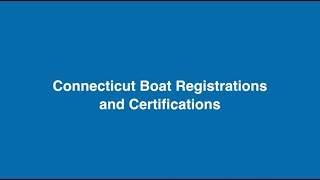 Boat Registrations & Certifications