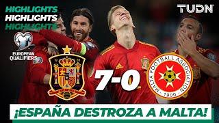 Highlights | España 7 - 0 Malta | UEFA EURO Qualifiers - G-F -J9 | TUDN