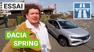 On a osé la Dacia Spring sur autoroute !