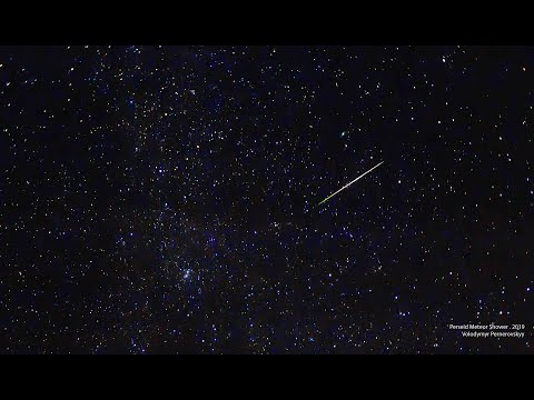 Perseid meteor shower in August 2019 Skywatching. Best pictures and tutorial.