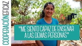 Juanita quiere ser farmacéutica y tener su propio negocio -Cooperación Eficaz