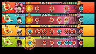 【太鼓の達人 Wii4】ヒカリノカナタヘ【全難易度同時再生】