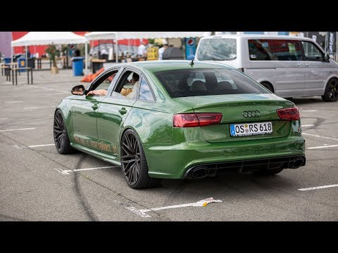 800HP Audi RS6 Sedan with Straight Pipes - LOUD Redline Revs & Accelerations !