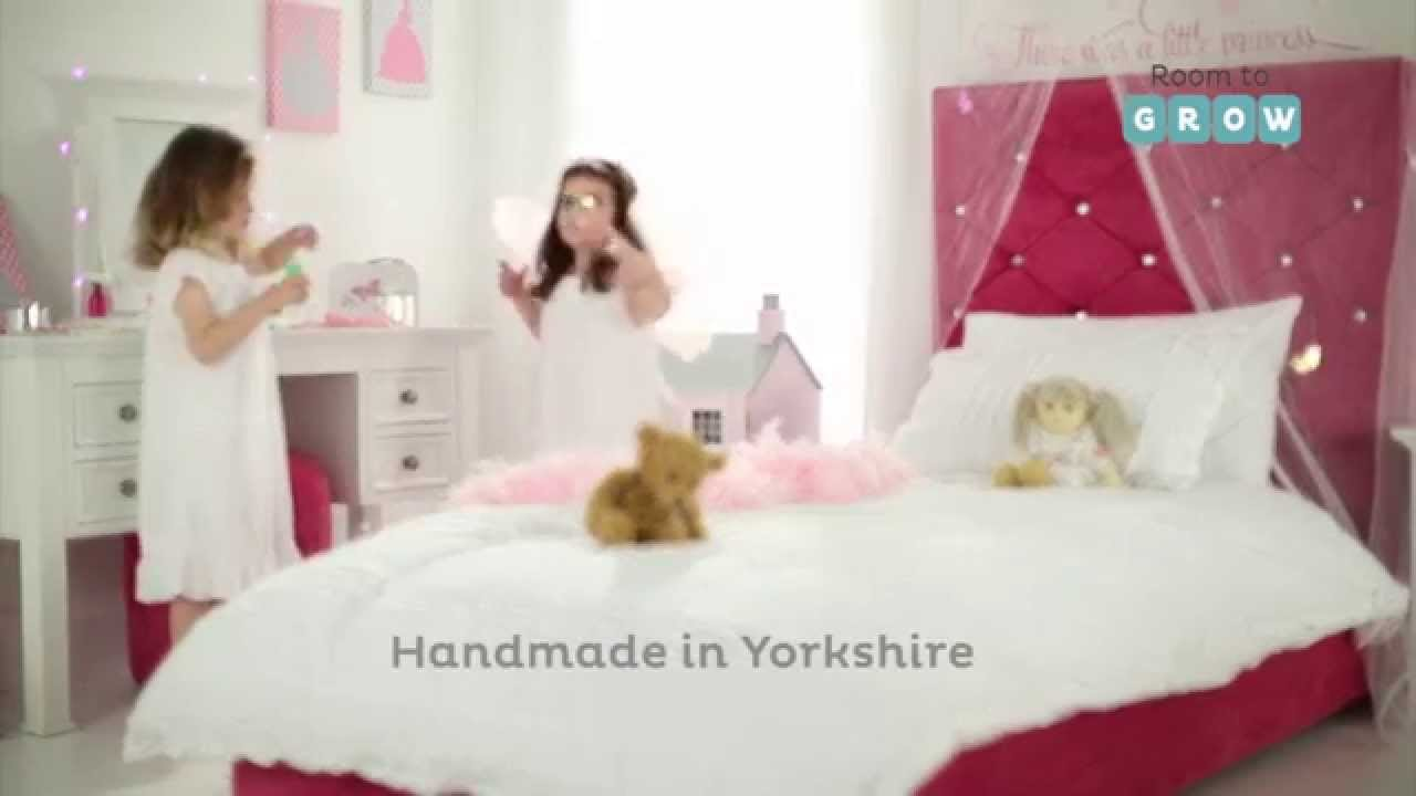 Princess Sparkle Upholstered Bed Product Video