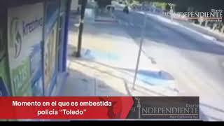Momento donde es arrollada la Policía de LaPaz Alma Toledo ...