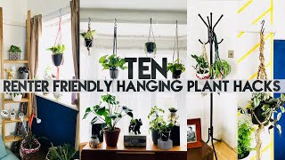 10 HANGING PLANT DIY HACKS FOR RENTERS | No Drill, No Holes | Miss Bird