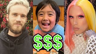 TOP 10 RICHEST YOUTUBERS OF 2019