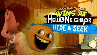 Annoying Orange Wins Hello Neighbor: Hide and Seek!!!