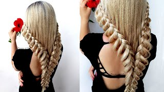 😱 Easy Lace Braid Hairstyle Tutorial 😍 Hairstyle Transformations By Another Braid