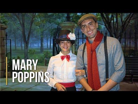 Disfraz Casero De Mary Poppins Y Bert!!! 🌂👜