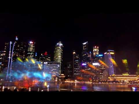 Сингапур 2017 лазерное шоу, Singapore laser show skyway gardens