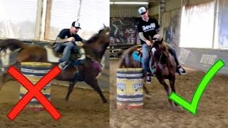 TEACHING A BEGINNER TO RIDE FAST HORSES (funny)