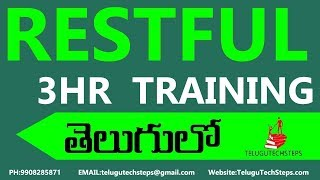 Restful Web Services Tutorial In Telugu| NEARLY 3 HOURS CLASS.