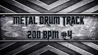 Trivium Style Metal Drum Track 200 BPM (HQ,HD)
