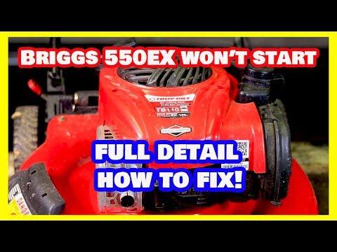 Briggs and Stratton 550EX Won't Start!