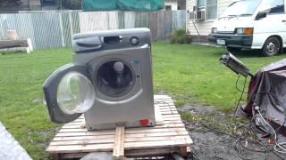 Self Destructing Washing Machine Epic - Hotpoint Self Destructs