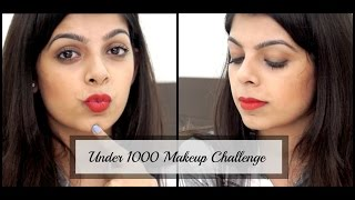 Image for video on Under Rs.1000 Makeup challenge | Affordable Beauty | Affordable Makeup Look by Aditi Singh