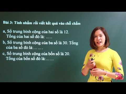 Ôn tập về tìm số trung bình cộng lớp 4