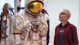 Adam Savage Tours SFMOMAs Spacesuit And Space Art Exhibit!
