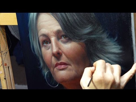 Painting an Oil Portrait using a Grid, Grisaille and Glazing