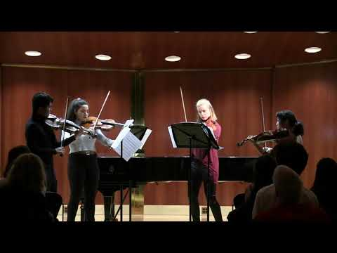 A personal favorite, this piece for four violas demonstrates the instrument's rich, beautiful sound and virtuosic, singing qualities.