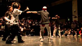 JUSTE DEBOUT JAPON 2013【HIPHOP BEST8】M.A one vs RUSH BALL