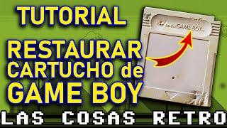 RESTAURAR cartucho de GAME BOY 🔴 Cambiar CARCASA ¡FÁCIL! #YoMeQuedoEnCasa