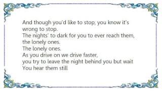 Chris Isaak - The Lonely Ones Lyrics