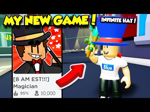 My NEW ROBLOX GAME MAGICIAN SIMULATOR Is FINALLY HERE And I Got SO OP! (Roblox)