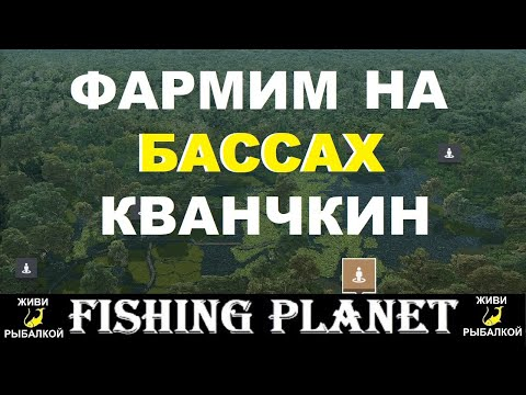 Fishing Planet озеро Кванчкин - фарм на бассах