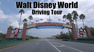 Walt Disney World Driving Tour  World Drive to Magic Kingdom, Epcot Hollywood Studios Animal Kingdom