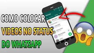 como compartilhar video no status do whatsapp