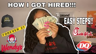 HOW TO GET a job as a teen + interviewing tips! GET HIRED ON THE SPOT