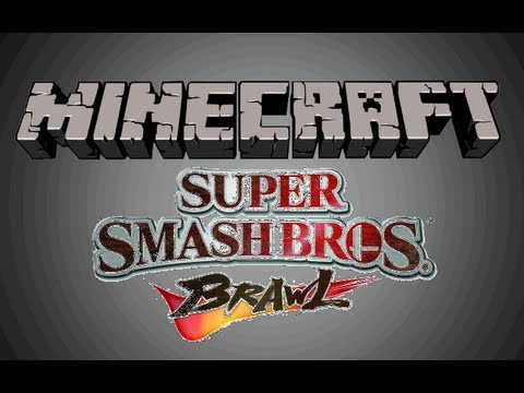 Super Smash Bros in Minecraft - PVP Map -1, 2 and 4 Players