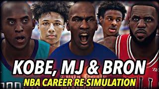 LEBRON, JORDAN & KOBE'S CAREER RE-SIMULATION AS 2020 ROOKIES. | CHANGING THE NBA FOREVER | NBA 2K20