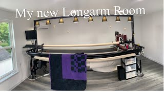 My New Longarm Quilting Work Space