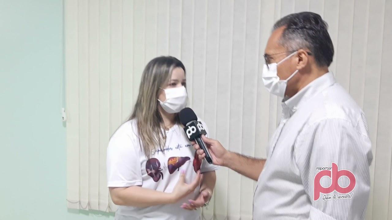 Rafaela Carvalho explica que o HRS será referencia em transplante de córneas