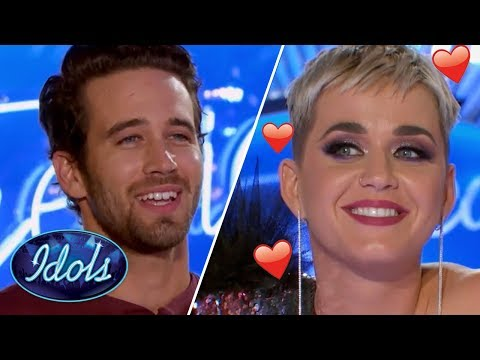 KATY PERRY Falls In LOVE With Trevor Holmes On American Idol 2018 | Idols Global
