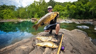Spearfishing GIANT Fish To Feed Local Families!! (tiny pond)| Jiggin' With Jordan