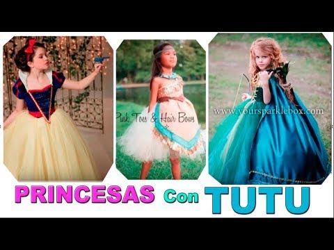 Disfraces las PRINCESAS DISNEY en TUTU. Princess Costumes