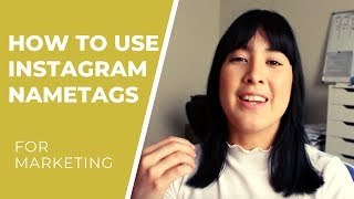 How to Use Instagram Nametags | How to use Nametags for Marketing