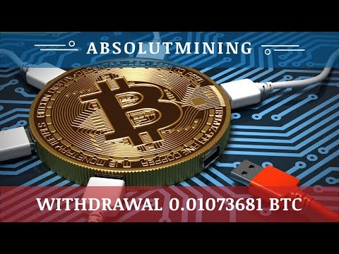 AbsolutMining.com отзывы 2020, обзор, TOTAL WITHDRAWAL 0.01073681 BTC, free 100 GHs bonus